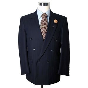 Burberry Vintage Mens Double Breasted Blazer 42R